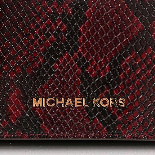Michael Kors Brinkley 30F5GKLM2E Damen Tasche Handtasche Henkeltasche Abendtasche Schultertasche Messenger Merlot