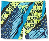O'Neill Jungen Strike Out Boardshorts Bademode Badeshorts, Blue AOP W/Yellow/Orange, 176