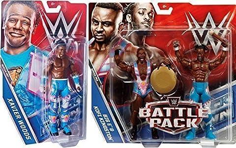 WWE The New Jour Basique 3 Ensemble De Figurines Séries Figurine D'Action - Kofi Kingston, Xavier Woods & Grand E
