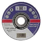 SBS Trennscheiben | 115 x 1,0 mm | 100 Stück | INOX | für Trenn- oder Winkelschleifer