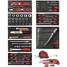 Carolus 2200.080 - Surtido de herramientas 118 pzas en módulos de plástico