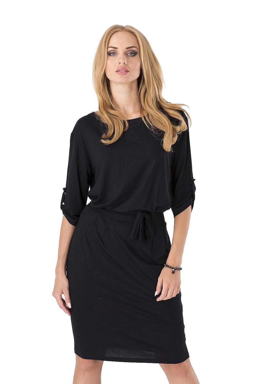 Kleid mit Kordel Elegant 3//4 Arm Stylisch B27