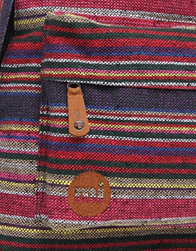 Mi-Pac Peruvian Stripe grün - Peruvian Stripe Dark Red/Vert