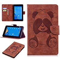 DENDICO Kindle Fire 7 Leather Flip Notebook Style Case Cover [Stand Function] [Magnetic Closure] [Card Slots] Slim WeightLight Protective Case for Amazon Kindle Fire 7 - Brown