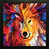 Best Dog Frame - Frame Wall Painting Colorful Dog || Printelligent exclusive Review