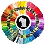 100 madejas hilo de bordar colores al azar hilo de algodón bordado con 15 piezas bobinas de hilo...