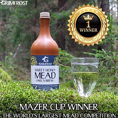 Grimfrost Sweet Honey Mead - Met - Honigwein aus Himbeerblütenhonig (750ml 13% Vol. Lieblich)