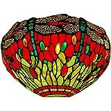 Arte Dal mondo Dragonfly lámpara de pared de cristal tiffany-style artesanía WD12022