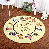 Gut Teppich/Teppich Kinder-Teppich, Cartoon-/Cloakroom Wohnzimmer Schlafzimmer-Drehstuhl mit Sitzkissen, Teppich, Nylon, Diameter 160cm