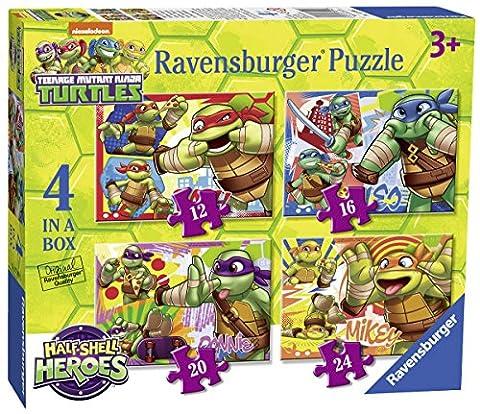 Ravensburger Teenage Mutant Ninja Turtles Halbschale Helden, 4in einer Box (12, 16, 20, 24-) Puzzle