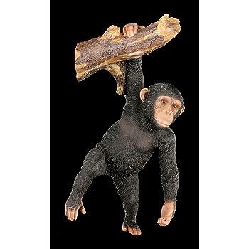 Süßes Orang-Utan Baby Figur Garten Statue Deko Dschungel Gartenfigur Affe