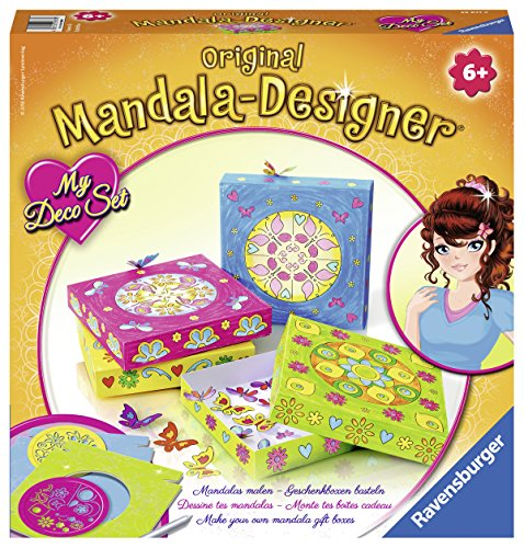 Ravensburger Original Mandala Designer 29877 - My Deco Set: Flowers und Butterflies