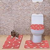 Coloranimal fenicottero modello tappeto bagno Set Contour Mat + coperchio WC cover + tappeto da bagno zerbino moderno Flamingo-6