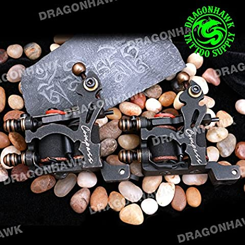 Compass 2 PCS New Style Cutting Technology Tattoo Machine Gun Pure Iron Shader and Liner