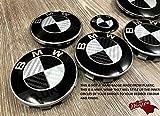 schwarz silber Kohlefaser BMW Abzeichen Emblem Überzug Haube Koffer Felgen für alle BMW