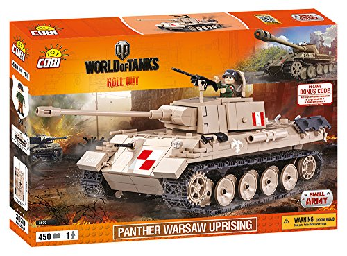 Beige Panther (COBI 3030 Spielzeug Panther Warsaw Uprising, Beige, Grau)