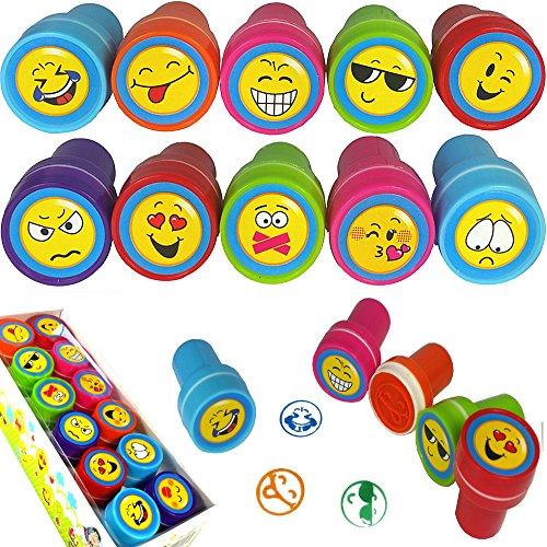 german-trendsellerr-6-x-tampons-a-encre-avec-emojishappy-facessmileys-drole-visages-lanniversaire-de