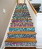 3D Farbe Leopard Muster 62 Stair Risers Dekoration Fototapete Vinyl Aufkleber Tapete DE Carly (13x H:18cm x W:94cm (7