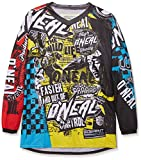 O'Neal Element Kinder Jersey WILD Multi Moto Cross Mountain Bike Enduro Trikot MX MTB, 0025W-9, Größe Medium