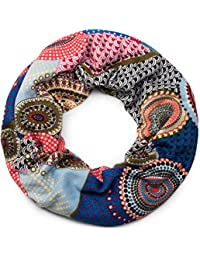 styleBREAKER snood rond tricoté avec imprimés de style ethnique africain,  écharpe, femme 01017042, 6feef27083d