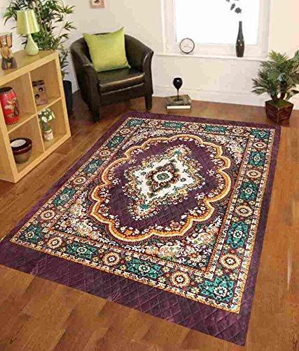 Home Elite Traditional Floral Microfibre Anti-Allergic Carpet - 55