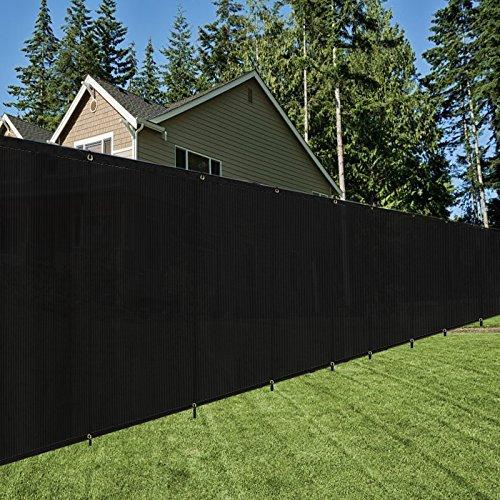 OriginA 6x ° schwarz Zaun Sichtschutz mit Zip Krawatten und Gummidichtungen/Schatten Tuch/Schatten Zaun/Gewerbliche Backyard Zaun -