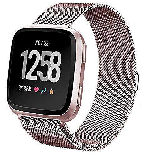 Correa smartwatch Fitbit Versa acero inoxidable Pugo