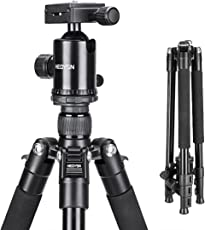 Heoysn Fotostativ 164cm/64.57, Tragbare mit 360° Kugelkopf aus hochwertigen Aluminiumlegierungen. Professionelles Leichtgewichtiges Stativ. Kompatibel mit Canon/Nikon/Olympus/Pentax DSLR-/Bridge- und allen Kameras