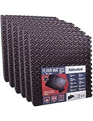 Almohadillas, 36unidades, 400x 400x 10mm, negro, espuma EVA, alfombrilla de puzzle para camping, deporte oprotección
