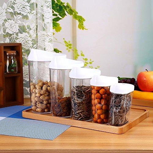 5 Pièces Stockage Alimentaire Boîte hermétique Conteneur Boîtes de rangement Cuisine pour Fruit à Coupe ou Cucreries par ZJchao