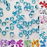 TtS 5000 (Hellblau) Mixed Diamanten Dekosteine Acryl Kristalle Streuteile Tischdeko Hochzeit