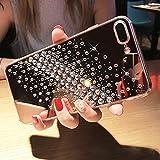 iPhone 7 Plus Hülle,iPhone 8 Plus Hülle,JAWSEU [Glitzer Strass Diamant Spiegel Hülle] Glänzend Kristall Silikon Hülle TPU Silikon Handyhülle Tasche Protective Case für iPhone 7/8 Plus (Himmel Sterne)