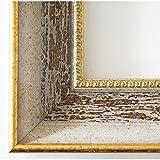 Cornice di legno - Monza 6,7 - Grigio Marrone Oro - 10 x 80 cm - WRU - tutte le dimensioni - fatti a mano - Antico, Barocco, Shabby