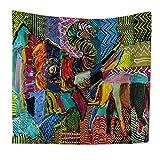 QEES Böhmischer Wandteppich Elefant Wandbehang Indischer Stil Hippie Schönes Wandtuch Tischdecke Strandtuch Vorhang Mehrzweck Tuch Einzigartiges Design Hochwertige Verarbeitung (GT10-elephant 20-S)