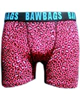 BawBags Leopard Boxers - Pink & Blue