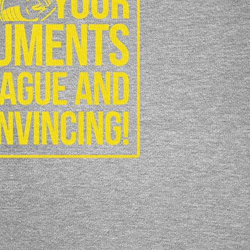 TEXLAB - Your Arguments are vague and unconvincing - Herren Langarm T-Shirt Grau Meliert