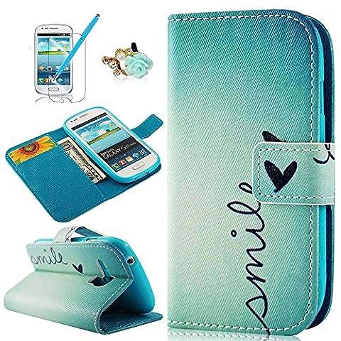 ZSTVIVA PU Leder Wallet Case Folio Schutzhülle für Samsung Galaxy