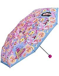 Disney Perletti - Paraguas Mini Luna - Niña - Antiviento y Plegable - Manual