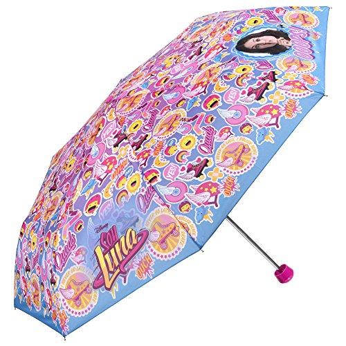Perletti - Paraguas Mini Disney Soy Luna - Niña - Antiviento y...