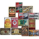 Smoro 5Pcs 20x30cm Vintage Metal Tin Wall Sign Plaque Poster for Cafe Bar Pub Beer Home Office Restaurant