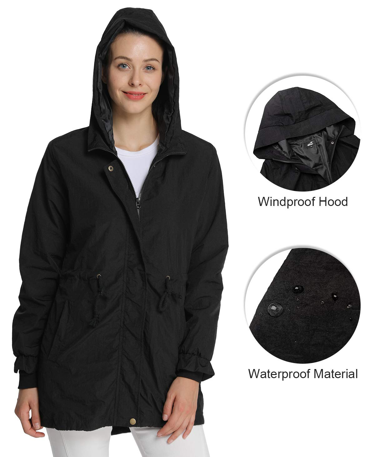 61IhKg4o%2BSL - 4How Ladies Outwear Breathable Waterproof Jacket Outdoor Lightweight Coat