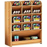 Boîte de rangement en bois multifonction pour stylos à la maison, au bureau et à l'école Cerisier