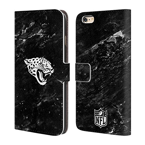 Ufficiale NFL Righe 2017/18 Jacksonville Jaguars Cover a portafoglio in pelle per Apple iPhone 4 / 4S Marmo