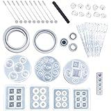 SERWOO 44 stuks silicone vorm sieraden gietvorm sieraden hars vorm siliconen plastic druppel lepel vingerbescherming voor han