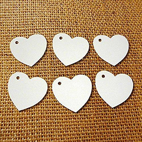 Kraft Papier Geschenkanhänger für Hochzeit Gunst DIY Gepäck Preis Label (weiß) (Papier Für Hochzeit)