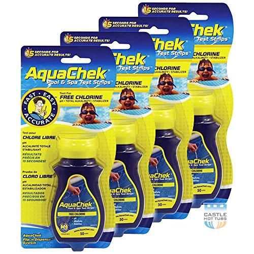 AquaChek Chlor-Schwimmbad-Teststreifen, 4 Stück -