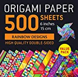 Origami Paper 500 sheets Rainbow Patterns 6' (15 cm)