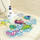 Vi.yo Sicherheit Kinder Dusche Matten Cute Cartoon Anti-Rutsch Bad Matte mit Saugnäpfen Durable Umwelt PVC-Matte für Badewanne und Dusche (Stil 1)