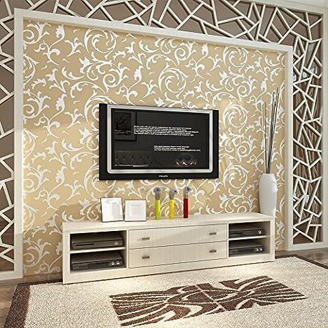 Hanmero Wandwelt Mustertapete Umweltschutz Europa Bersilbern Sofa Fernseher Hintergrund Nahtlos 3D Style Geprägt Relief Vliestapete 0,7*8,4m 4 Farben für Wohnzimmer Livingroom (Gutschein Amazone)