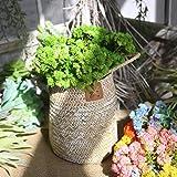 Longra Wohnaccessoires & Deko Künstliche Seide gefälschte Blumen Pflanze Obst Blumen Hochzeit Bouquet Party Decor Kunstblumen mit Blättern Blumendekoration (Green)